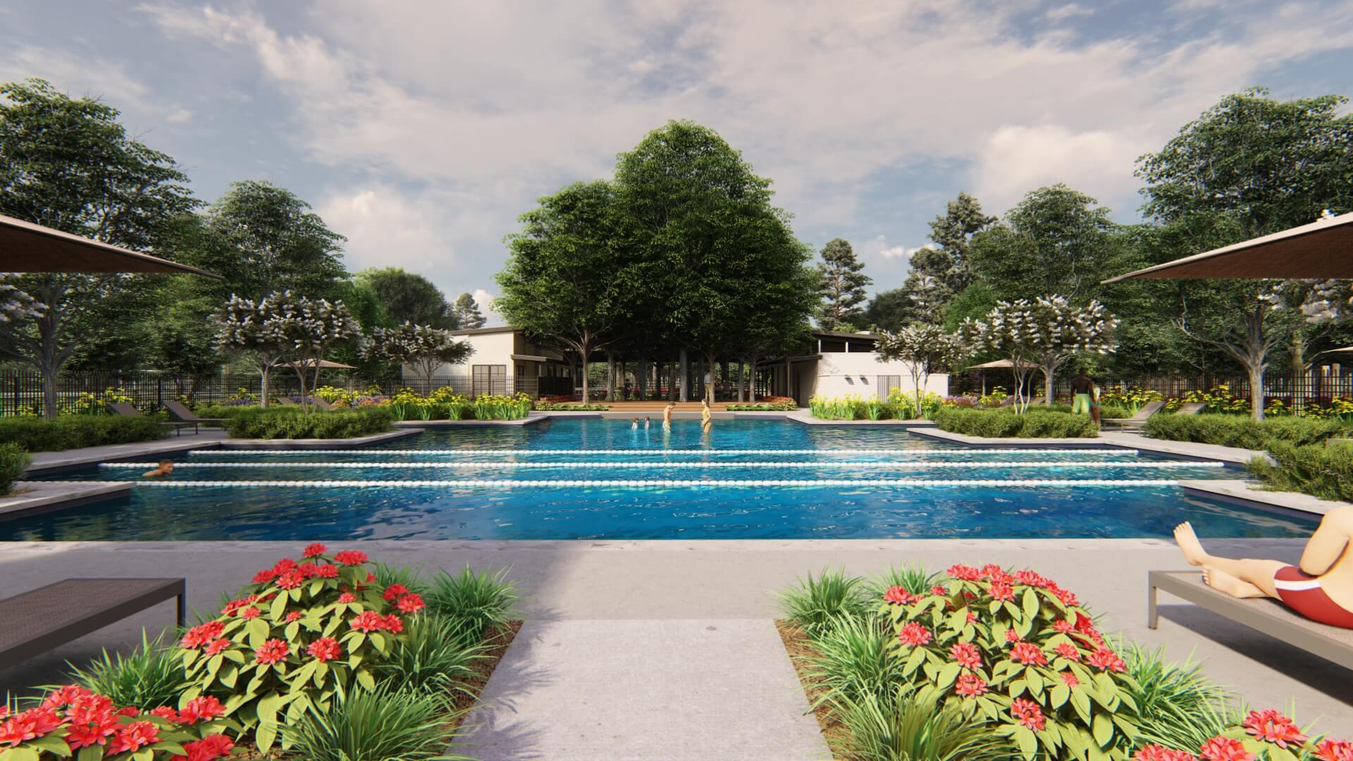 Anthem Swimming Pool Rendering