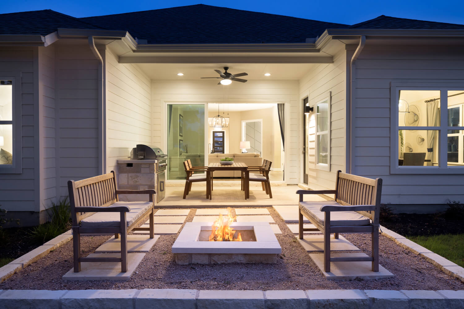 Scott Felder Homes Cameron Covered Patio Photo