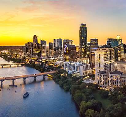 Downtown Austin Texas Skyline in the Evening Photo