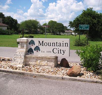 Mountain City Texas Sign Photo