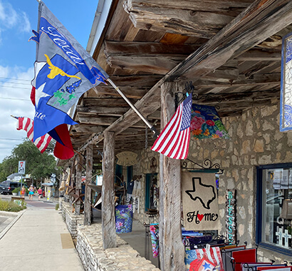 Downtown Wimberley Texas Shops and Boutiques Photo